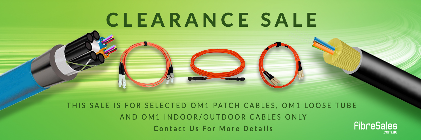 50% Off Selected OM1 Patch Leads